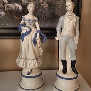 Other - Vintage Victorian statue pair, 12 inches tall